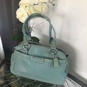 Gorgeous light blue leather Coach bag